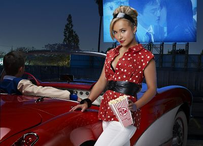 blondes, women, cars, Hayden Panettiere, celebrity, Harry Potter, high heels - desktop wallpaper