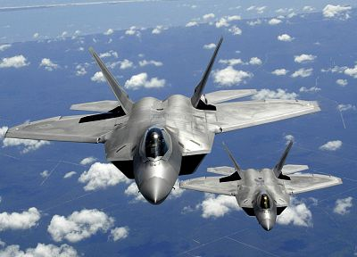aircraft, military, F-22 Raptor, planes, vehicles - random desktop wallpaper