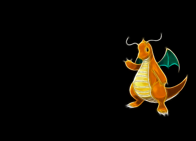 Pokemon, Dragonite, black background - related desktop wallpaper