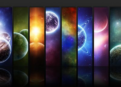 outer space, planets, digital art - random desktop wallpaper