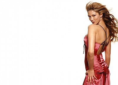 women, Delta Goodrem, simple background - random desktop wallpaper