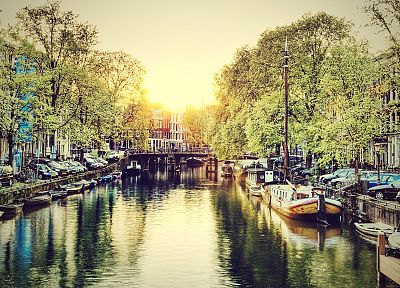 cityscapes, Amsterdam, HDR photography, rivers - random desktop wallpaper