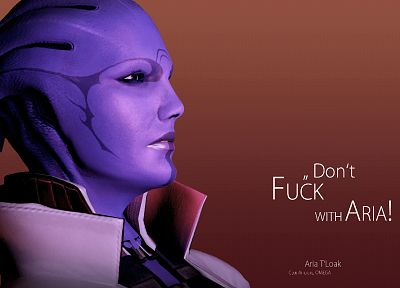 quotes, Mass Effect, Asari, Aria T'Loak - related desktop wallpaper