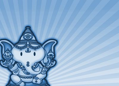 blue, Hinduism, Ganesha, diety - random desktop wallpaper