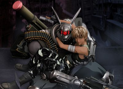 soldiers, Appleseed, robots, Android - related desktop wallpaper