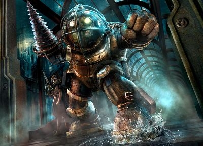 video games, Big Daddy, BioShock - related desktop wallpaper