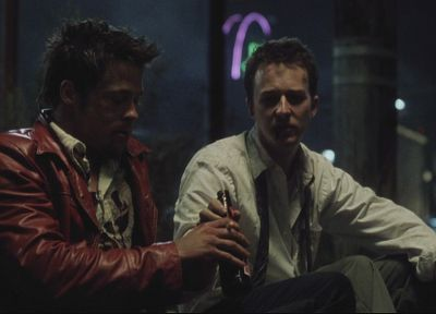 beers, Fight Club, Brad Pitt, Edward Norton, screenshots - related desktop wallpaper