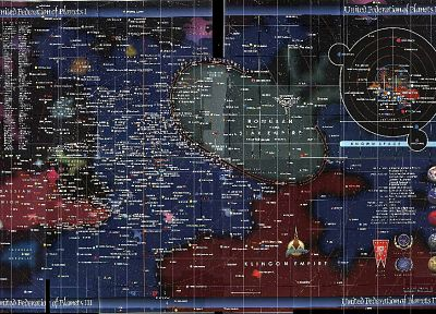 outer space, Star Trek, maps - desktop wallpaper