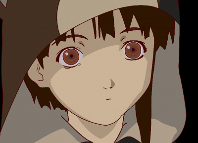 Serial Experiments Lain, transparent, anime vectors - desktop wallpaper