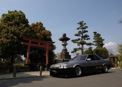 Japan, cars, shrine, Asia - desktop wallpaper
