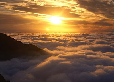 sunrise, clouds, Sun, dawn, New Zealand, skyscapes - desktop wallpaper