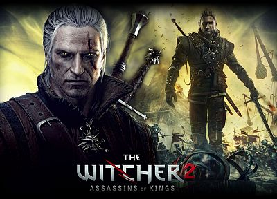 video games, The Witcher, artwork, Geralt of Rivia, The Witcher 2: Assassins of Kings, pc games - random desktop wallpaper