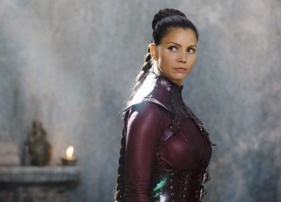 leather, women, Legend Of The Seeker, actress, Charisma Carpenter - related desktop wallpaper