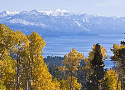 autumn, California, Lake Tahoe - random desktop wallpaper