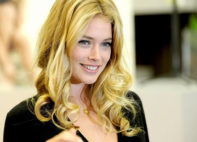 blondes, women, blue eyes, Doutzen Kroes - random desktop wallpaper