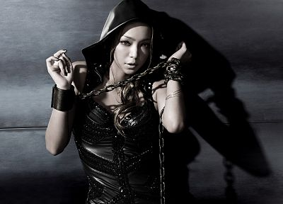women, Japanese, Asians, singers, chains, Amuro Namie, jpop - desktop wallpaper