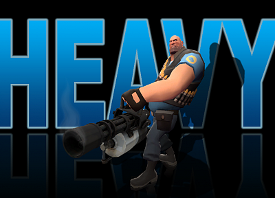 video games, Heavy TF2, Blu team TF2, Team Fortress 2 - related desktop wallpaper