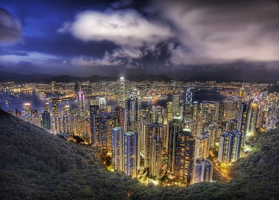 cityscapes, buildings, Hong Kong, HDR photography - related desktop wallpaper
