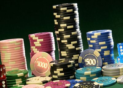 poker, poker chips - random desktop wallpaper