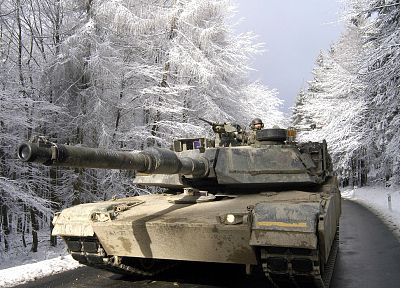 winter, snow, trees, military, seasons, tanks, M1A1 Abrams MBT - related desktop wallpaper