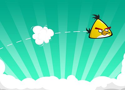yellow, Angry Birds - desktop wallpaper