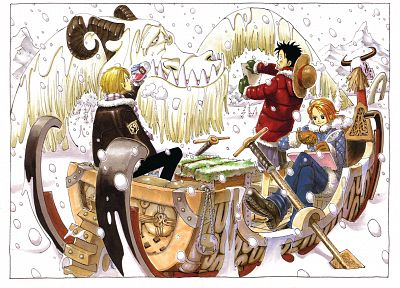 One Piece (anime), Monkey D Luffy, Nami (One Piece), Sanji (One Piece) - random desktop wallpaper