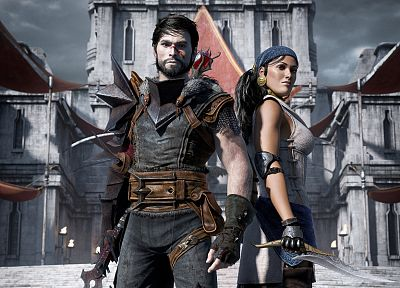 CGI, Dragon Age 2, Hawke - random desktop wallpaper