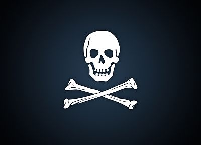 skull and crossbones - random desktop wallpaper