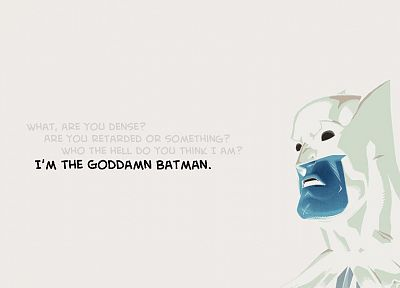 Batman, movies, Goddamn Batman, white background - desktop wallpaper