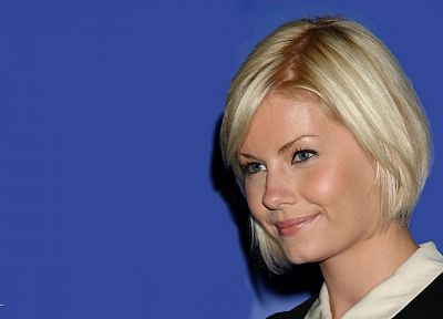 women, Elisha Cuthbert, simple background - random desktop wallpaper
