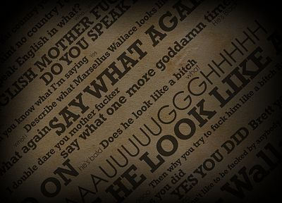 text, Pulp Fiction, quotes, typography - random desktop wallpaper