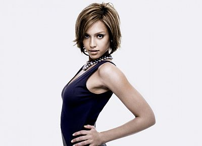 Jessica Alba, actress, white background - random desktop wallpaper