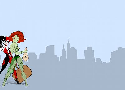 comics, superheroes, Harley Quinn, Poison Ivy, artwork, comics girls - random desktop wallpaper