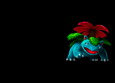 Pokemon, Venusaur, simple background, black background - random desktop wallpaper