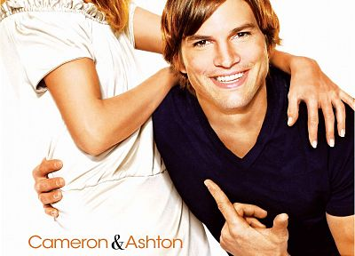 Cameron Diaz, Ashton Kutcher, movie posters - random desktop wallpaper