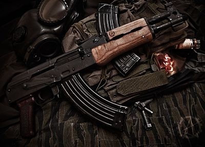 guns, weapons, AK-47 - related desktop wallpaper