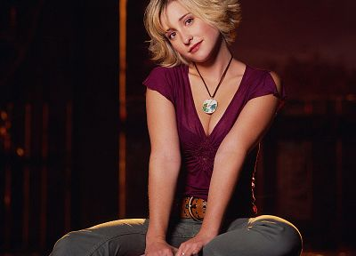 women, Allison Mack, Smallville, Chloe Sullivan - random desktop wallpaper
