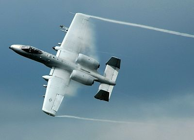 aircraft, military, Warthog, Thunderbolt, planes, A-10 Thunderbolt II, contrails - related desktop wallpaper