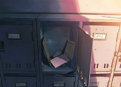 Makoto Shinkai, 5 Centimeters Per Second, letters, locker room, lockers - random desktop wallpaper