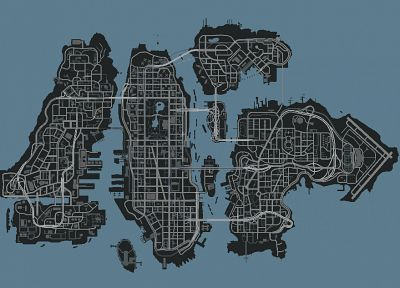 maps, GTA IV - random desktop wallpaper