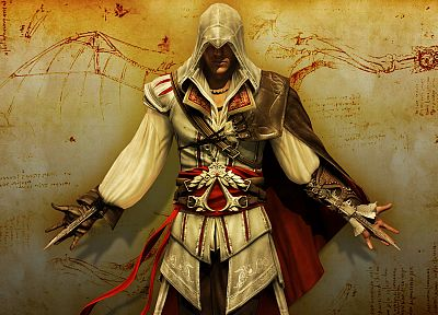 assassin, Assassins Creed, Ezio - random desktop wallpaper