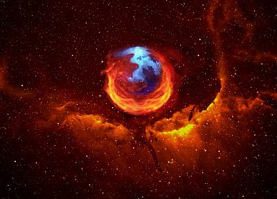 outer space, Firefox, Mozilla, artwork, logos - related desktop wallpaper