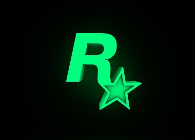 Rockstar Games, logos, simple background - desktop wallpaper