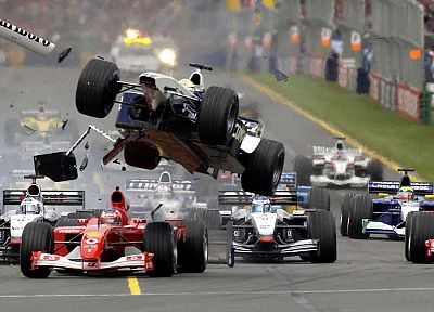 crash, accident, Formula One, vehicles - related desktop wallpaper