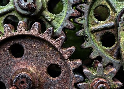 gears, rusted - random desktop wallpaper