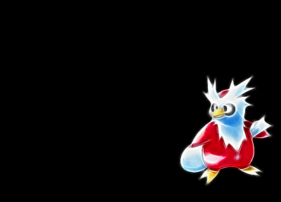 Pokemon, Delibird, black background - desktop wallpaper