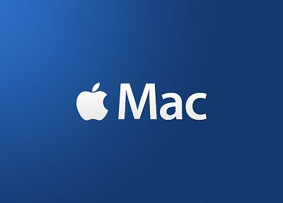 Apple Inc., Mac, blue background - related desktop wallpaper