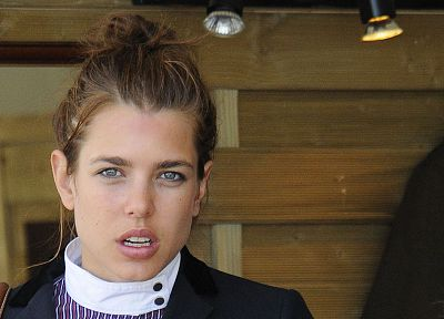 brunettes, women, Monaco, Charlotte Casiraghi - random desktop wallpaper