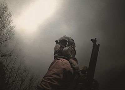 army, forests, gas masks - popular desktop wallpaper