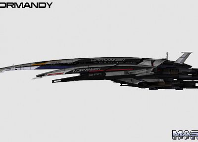 Normandy, futuristic, Mass Effect, spaceships, vehicles - related desktop wallpaper